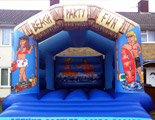 Beach party bouncy castle