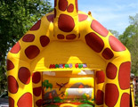 Geoffrey the Giraffe bouncy castle