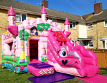 Princess and the Dragon bouncy castle and slide