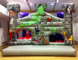 Snappy Dragon bouncy castle