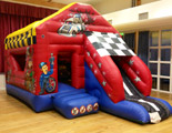 Wacky Racers bouncy castle